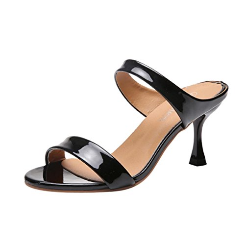 Limsea Women Fish Mouth Fashion Sandals Ankle High Thin Heels Party Open Toe Shoes