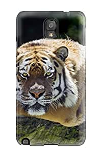 Rugged Skin Case Cover For Galaxy Note 3- Eco-friendly Packaging(tiger)