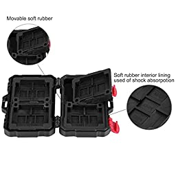 Eggsnow 24 Slots Memory Card Case ,Water-Resistant SD Card Case Anti-Shock Carrying Holder Storage Case for CF/ Micro SD/SD Cards-Black