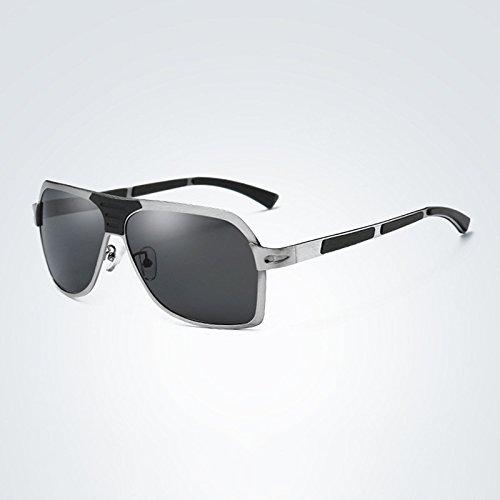Sol Gafas Marco 4 4 para de XZP de Estilo de con aleación Cuadrado Adultos polarizadas UV400 Sol Gafas de Retro Unisex FwEvddq
