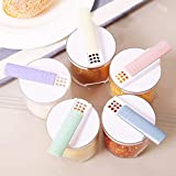 DeemoShop 5 PCS Set Kitchen Tool Supplies Seasoning Bottle Barbecue Practical Square Condiment Pepper Shakers Outdoor Salt Shaker