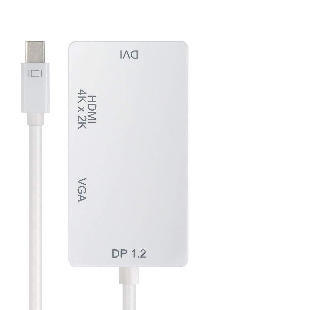 BHHub Adaptador 3 en 1 - Adaptador Thunderbolt Mini DisplayPort a ...