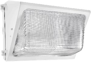 RAB Lighting WALLPACK 100W HPS 120V NPF GLASS LENS LAMP WHITE WITH 12