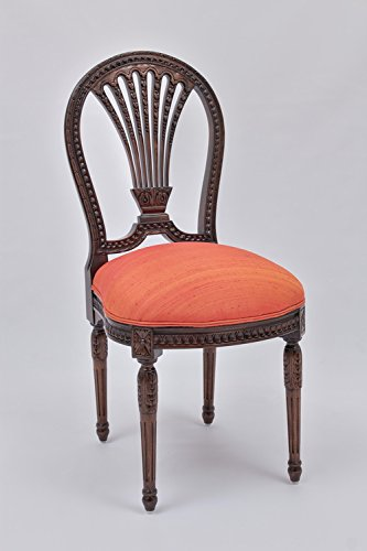 Laurel Crown Louis XVI Side Chair with Wheat Back