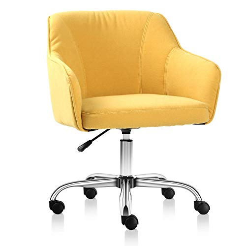KLSJJ 360° Rotating Durable, Beautiful, and Most Importantly Comfortable Home or Office Chair (Color : Yellow) ()