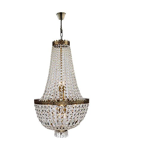 Worldwide Lighting W83084B20 Metropolitan Collection 8 Light with Clear Crystal Chandelier, 20