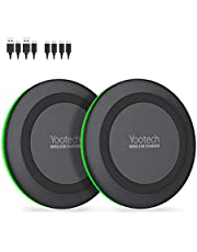 Yootech [2 Pack] Wireless Charger,Qi-Certified 10W Max Wireless Charging Pad Compatible with iPhone 11/11 Pro/11 Pro Max/Xs MAX/XR/XS/X/8, Galaxy Note 10/Note 9/S10/S9, AirPods Pro(No AC Adapter)