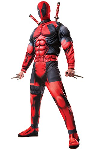 Rubie's Men's Marvel Universe Classic Muscle Chest Deadpool Costume,Multi-Colored,X-Large - Mens Costumes