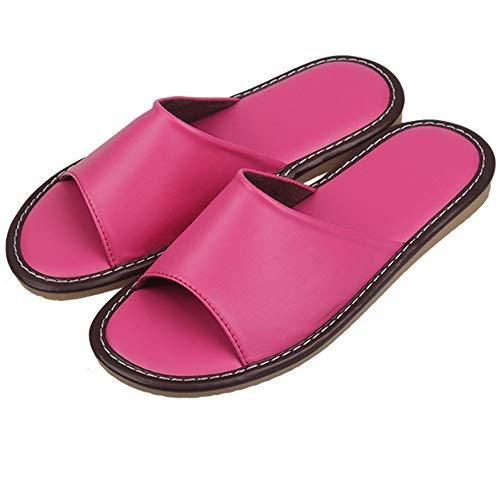 Comfortable Wall Indoor amp; Pink Women Shoes Slippers Sandals And For Outdoor Night Leather onindoor Slip Men nbsp;house Floor U65xdwq