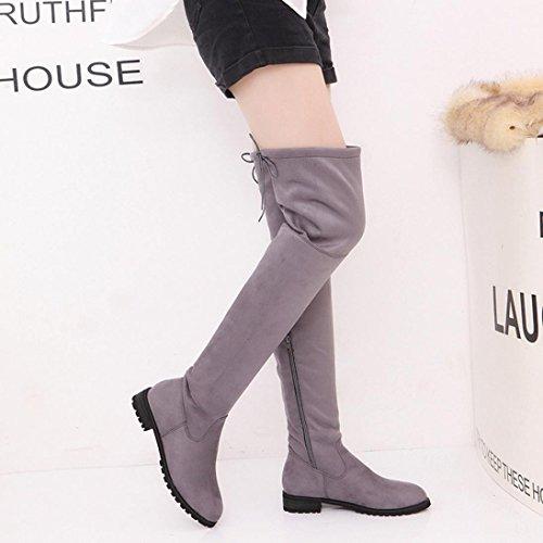 235558b880edca ... Stiefel damen Kolylong® Frauen Elegant Lange Stiefel mit absatz Herbst  Winter Warm Stiefeletten Über knie ...