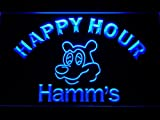 Bingirl Hamms Beer Happy Hour Bar LED Neon Light Sign Man Cave 645 B