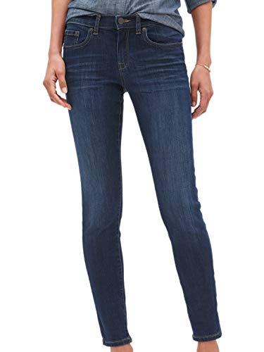 Banana Republic Womens Mid Rise Skinny Fit Skinny Jeans Dark Denim Wash (29W / US: 8)