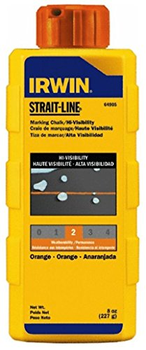 (Irwin 64905 Strait-Line 8-oz Hi-Visibility Marking Chalk - Fluorescent Orange)