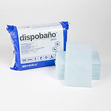 Dispobaño, Esponja Jabonosa desechable 12x20 cm. 100 grs. Pack 24 uds: Amazon.es: Salud y cuidado personal