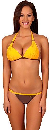 aQuarilla Conjuntos de Bikinis para Mujer Acapulco Naranja/Marrón