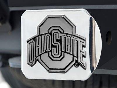 Ohio State Buckeyes Heavy Metal NCAA Chrome Hitch Cover