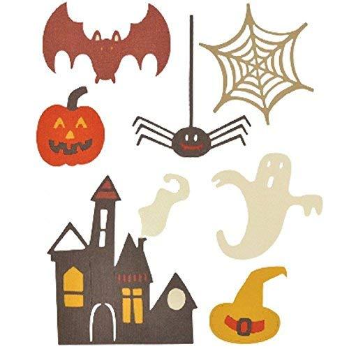 Sizzix 661325 Gespenstisches Halloween von My Life Handmade Thinlits Stanzen, 7 in Packung, Stahl, Mehrfarbig, 27 x 13 x 0.1 cm Ellison