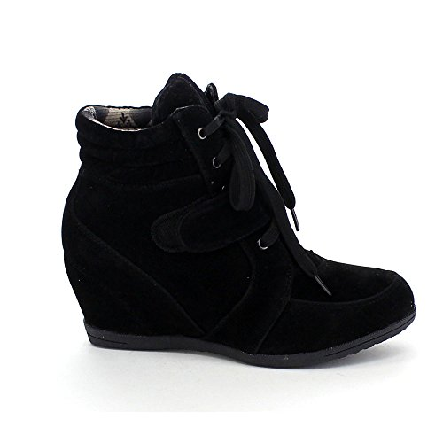 Beata 01 Booties Wedge Sneaker Black Womens Reneeze 5Eqwgx
