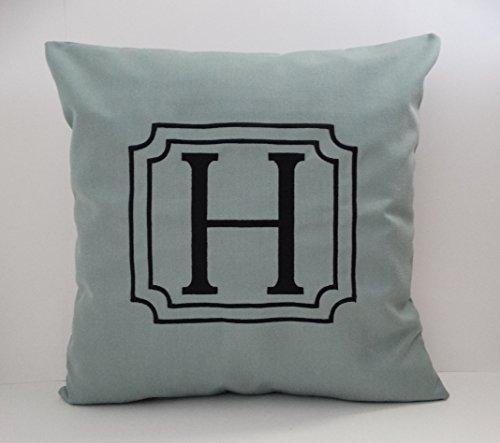 initial pillow. Custom made decorative