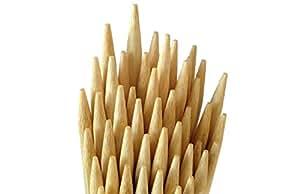 3 mm x 30 cm Semi Round Tip Hotdog, Marshmallow,Satay,Kebab, BBQ Bamboo Sticks (25)