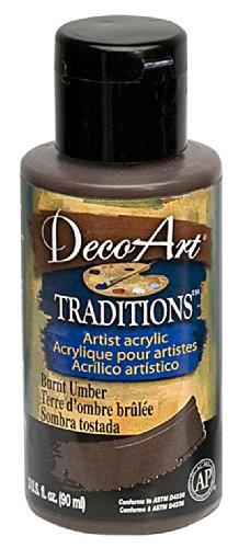 DecoArt Traditions Artist Acrylic Paint, 3-Ounce, Burnt Umbe