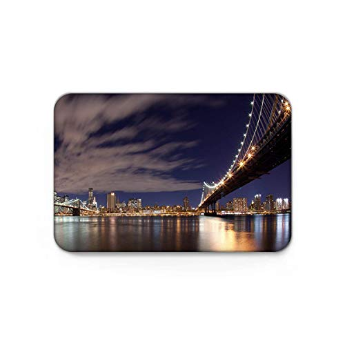 3D Printing Non-Slip Doormats Mud Dirt Trapper Mats Entrance Rug Shoes Scraper Floor Indoor/Kitchen/Bedroom View of San Francisco Bay Bridge California USA Tourist Attraction 15.7'' W by 23.6''L