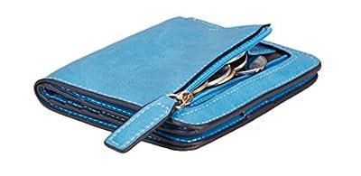 NapaWalli Womens Rfid Blocking Small Compact Bifold Luxury Genuine Leather Pocket Wallet Ladies Mini Purse with ID Window