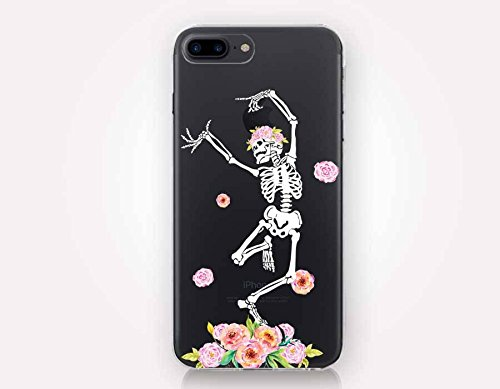 iPhone Case Slim Flexible Soft Silicone Bumper Shockproof Gel for Apple iPhone 7 Plus 5.5 Inch & iPhone 8 Plus 5.5 inch Device-Dancing Skeleton