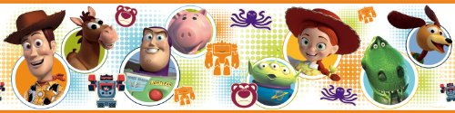 Roommates Rmk1429Bcs Toy Story 3 Peel & Stick Wall Border (Toys Border Wallpaper)