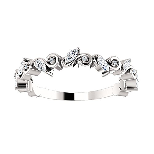 1.00 ct Ladies Round Cut Diamond Eternity Wedding Band in 14 kt White Gold
