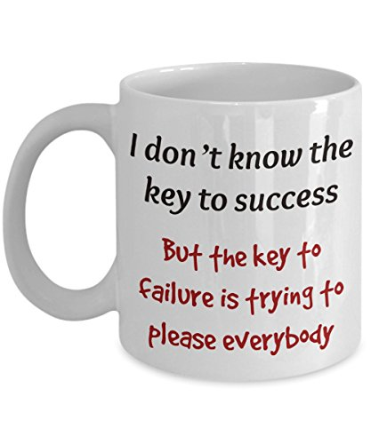 I Don'T Know The Key Coffee Mug - Unique Valentine's Day Present Idea for Men & Women, Him or Her - Birthday or Valentines Gift Cup for Office Coworkers, Mom, Dad, Son, Daughter, Husband, Wife