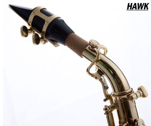Hawk Curved Soprano Saxophone Gold with Case, Mouthpiece and Reed by Hawk (Image #3)