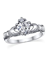 Metal Masters Co. Sterling Silver 925 Infinity Ring with Cubic Zirconia Sizes 5 to 10