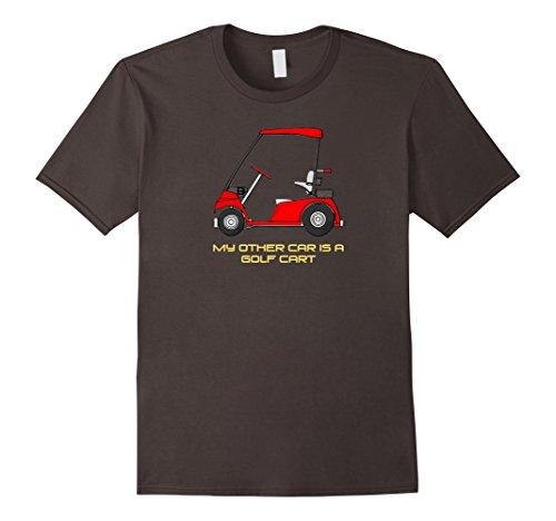 Mens My Other Car Is A Golf Cart T-Shirt Golfer Tee Shirt Large Asphalt