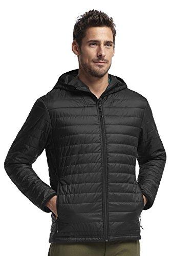 Icebreaker Men's Helix Long Sleeve Zip Hood, Black, Medium price