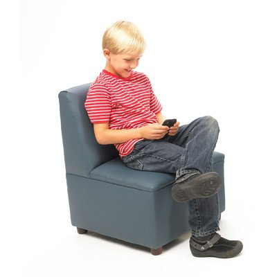 Brand New World Modern Casual Enviro-Child Upholstery Chair - (Chair Blue Upholstery)