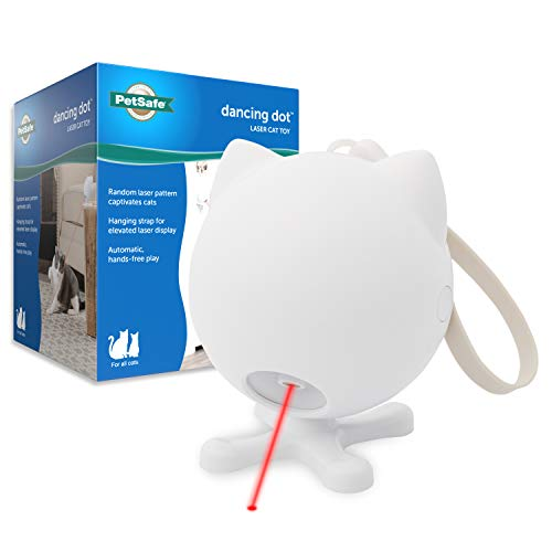PetSafe Dancing Dot - Interactive Cat Laser Toy - 2 Play Modes - Works Great on Elevated Surfaces