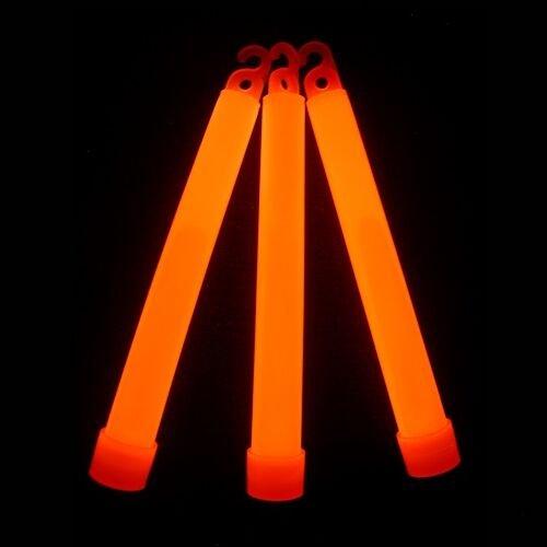 "Glow With Us Glow Sticks Bulk Wholesale, 25 6"" Industrial Grade Orange Light Sticks. Bright Color, Glow 12-14 Hrs, Safety Glow Stick with 3-year Shelf Life, Brand"