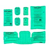 HEAT WAVE Instant Reusable Heat Packs & Hand Warmers - Bundle 2: 1 Pair (2) Original Plus 1 Pair (2) Large XT Hand Warmers, and 1 Medium, 1 Large, and 1 Universal Neck/Shoulder/Back - Made in USA