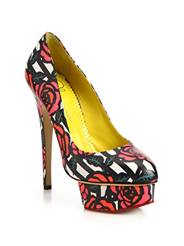 charlotte olympia Rose-Print Platform Pumps Size 7US