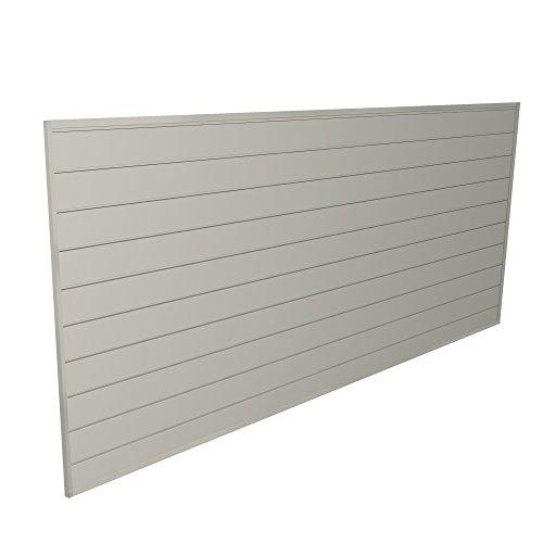 (Proslat 88109 Heavy Duty PVC Slatwall Garage Organizer, 8-Feet by 4-Feet Section, Sandstone )
