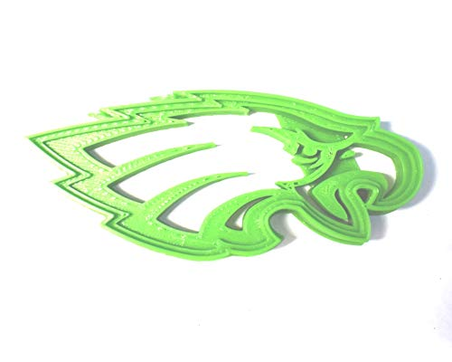 PHILADELPHIA EAGLES WITH DETAILS FOOTBALL NFL PENNSYLVANIA SPORTS TEAM COOKIE CUTTER BAKING TOOL 3D PRINTED MADE IN USA ()