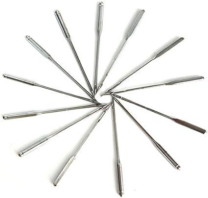 HELEISH Kit de aguja de hilo para máquina de coser de 50 piezas 11/12/14/16/18 para Singer Herramienta accesoria