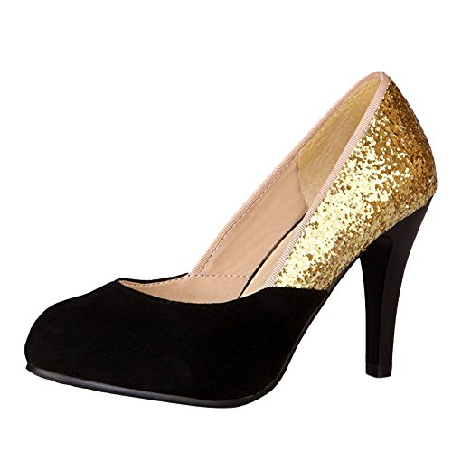 Scarpe per Lavoro Donna MissSaSa da Sala Nero Elegante aFwxqY
