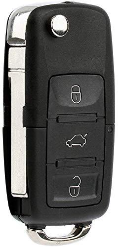 KeylessOption Keyless Entry Remote Control Car Uncut Blade Flip Key Fob for VW NBG010180T