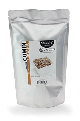 Spicely Organic Cumin Seeds Whole (1LB Bulk)