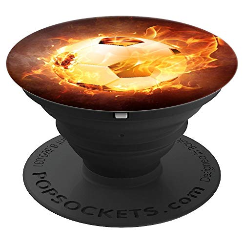 Football Soccer Ball Sport Flame Pop Socket - PopSockets Grip and Stand for Phones and Tablets