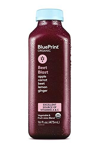 BluePrint Vegetable Juice, Beet Apple Carrot Lemon and Ginger, 16 oz