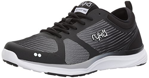 Ryka Women's Resonant Nrg Cross-Trainer-Shoes, Black/White/Lime, 9 M US (Shoes Training Cross Ryka)
