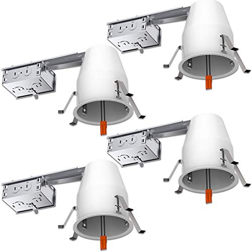 Sunco Lighting 4 Pack 4 Inch Remodel Housing, Air Tight IC R